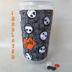 Jack Skellington drink cup cozy Nightmare von DeegeeMarieGifts