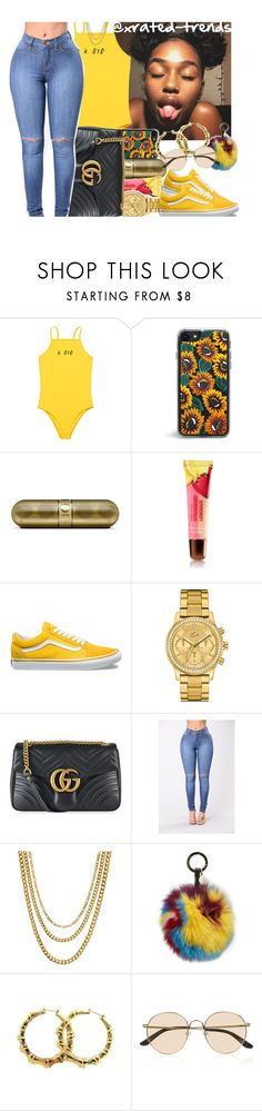 """""""k. bye ☹️✌"""" by xrated-trends ❤ liked on Polyvore featuring Vans, Lacoste, Gucci, ASOS, Jocelyn and The Row"""