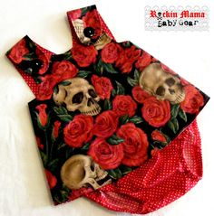 Resting in Roses Baby Pinafore Dress and Diaper Cover - Baby Sun Dress - handmade - Rockin Mama Baby Gear