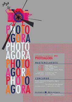 by Vanessa Liste; photo agora coruña 2013 cartel poster foto design graphic