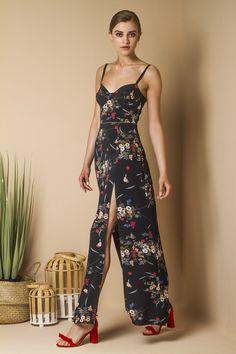 Romantic Summer Blue Floral Dress.