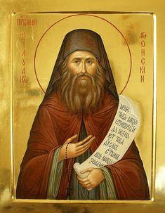 silouan of mt. Byzantine Icons, Orthodox Christianity, Orthodox Icons, Christen, Kirchen, Religious Art, Painting Techniques, Saints, Mona Lisa