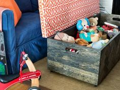 Is your living room overflowing with toys? Try these ideas to keep your kids' favorites at hand for playtime and out of sight when company comes.