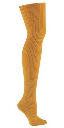 96ee313bad49d Sock It To Me OTK OCHRE RIB Womens Thigh High Socks Sock It To Me. $18.89
