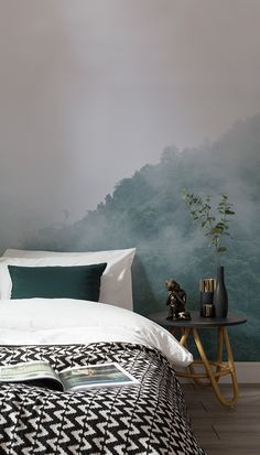 Mysterious, mood and marvellous. This enchanting forest wall mural captures the beauty of this vast forest landscape. Combine with gold accents for a truly decadent feel.