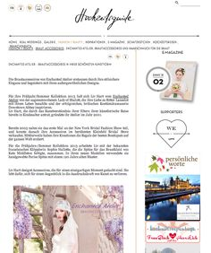 Enchanted Atelier for Maison Sophie Hallette featured in Hochzeitsguide.