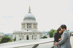 Sunny St Paul's Cathedral London Indian Pre-Wedding Shoot by Upendo Images