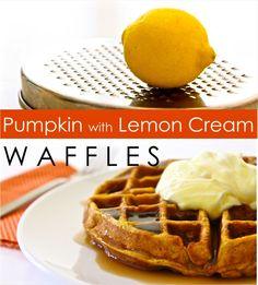 Pumpkin with Lemon Cream WAFFLES | MADE