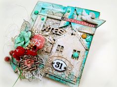 Χαρτοκατασκευές και Χαλάρωση! Card Tags, I Card, Happy Mail, My Canvas, Altered Art, Mini Albums, Advent Calendar, Mixed Media, Gift Wrapping