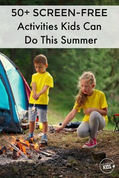 Kids don't need screens to fend off boredom this summer! These 50+ screen-free activities will get kids outside, help them use their imagination, get creative, and learn a thing or two.