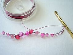 DIY How to Crochet a Bead and Wire Bracelet - CraftStylish