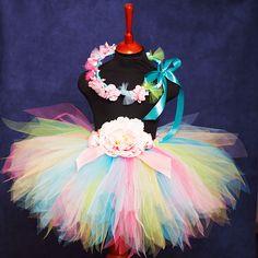 """Одежда для девочек, ручной работы. Ярмарка Мастеров - ручная работа """"Летний"""" комплект пышная юбка-пачка и веночек на голову. Handmade."""