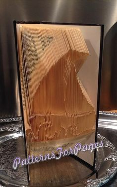 Book folding pattern for a LITTLE SAILBOAT on by PatternsForPages on Etsy