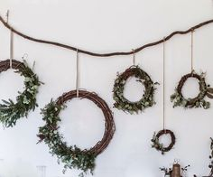 Don't settle for a store-bought wreath this holiday season. A little DIY can go a long way when it comes to your Christmas decor. Consider crafting one of these festive wreaths: They're super easy to make. Noel Christmas, All Things Christmas, Christmas Wreaths, Christmas Decorations, Xmas, Winter Wreaths, Holiday Decorating, Deco Noel Nature, Boho Deco