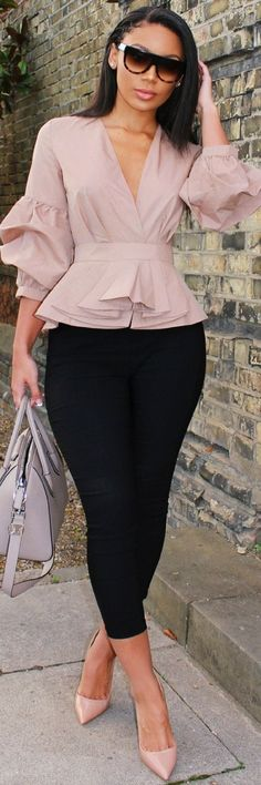 Casual-Work-Outfits-For-Black-Women - Moda Feminina Stylish Work Outfits, Classy Outfits, Chic Outfits, Skirt Outfits, Summer Outfits, Dress Skirt, Classy Wear, Fashionable Outfits, Summer Clothes