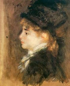Pierre-Auguste Renoir, Portrait of Model 'Margot' Pierre Auguste Renoir, Paris France, August Renoir, Renoir Paintings, Portrait Paintings, Art Pierre, Louvre Paris, Manet, French Art