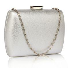 Srebrna gładka torebka wizytowa szkatułka srebrny | Sklep internetowy Evangarda.pl Clutch Bags, Bags, Clutch Purse, Clutch Bag