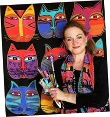 Love Laurel Burch's cats!