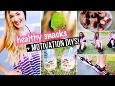 DIY Workout Motivation, Exercise Top & Healthy Snacks for Junk Food Lovers! | LaurDIY - YouTube