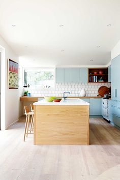 The incredible home of fashion designer Arabella Ramsay. From the February 2016 issue of Inside Out magazine. Styling by Julia Green and Noël Coughlan. Photography by Armelle Habib. Available from new (Mix Wood Shelves) Kitchen Inspirations, Home Decor Kitchen, Kitchen Style, House Interior, Kitchen Interior, Home Kitchens, Home, Kitchen Renovation, Home Decor