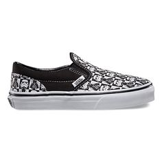 9e7cb9c038 Kids Star Wars Storm Trooper Slip-On Vans made in a many sizes.
