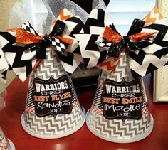 Check out this item in my Etsy shop https://www.etsy.com/listing/225731825/personalized-spirit-cheer-pom-megaphone