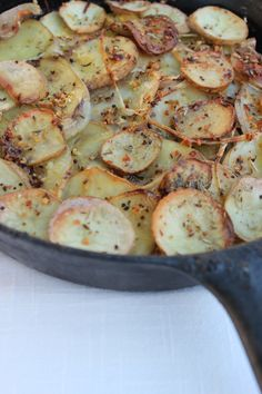 Cast Iron Skillet Rustic Potatoes
