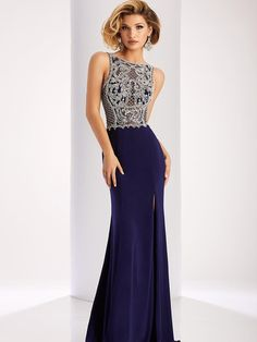 Sheath/Column Bateau Sleeveless Floor-Length Beading Jersey Dresses at HerDress Online