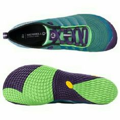 Merrell Vapor Glove 2 Trail running shoes ⛔NOT FOR SALE AT THIS TIME⛔  Women's Merrell Vapor Glove 2 Trail shoes. Extremely lightweight, almost like being barefoot. Toe guard, breathable mesh, foam lining molds to foot. Bright green and purple. Size 8.5 in excellent condition. No signs of use. Merrell Shoes Athletic Shoes