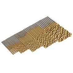 Mejor 50 unids/set broca helicoidal hss de alta de acero titanium coated herramienta para trabajar la madera 1/1. 5/2/2.5/3mm de madera de metal de perforación