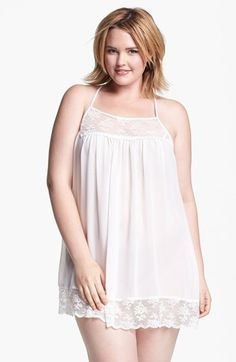 In Bloom by Jonquil Chiffon Chemise (Plus Size) available at #Nordstrom