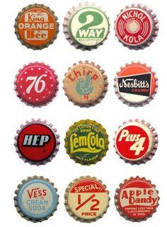Vintage Bottle caps.