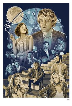 'Everything but the Tuberculosis' - Midnight in Paris inspired piece by Sam Gilbey for Woody Allen 2013 show, The Humorist Cinema Movies, Film Movie, Indie Movies, Movies Showing, Movies And Tv Shows, Midnight In Paris, Paris Movie, Paris Poster, Falling In Love Again