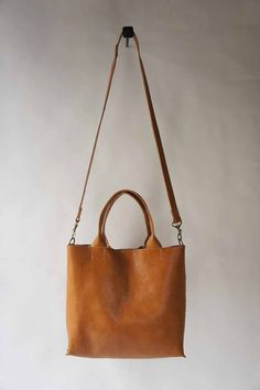 The Stella Bag  Italian Leather  Cognac by stitchandtickle on Etsy, $325.00