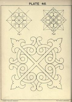 Cusack's freehand ornament. A text book with chapters on elements, principles, and methods of freehand drawing, for the general use of teachers and students . Celtic Patterns, Celtic Designs, Tile Patterns, Embroidery Patterns, Motif Arabesque, Molduras Vintage, Ornament Drawing, Motif Floral, Illuminated Manuscript