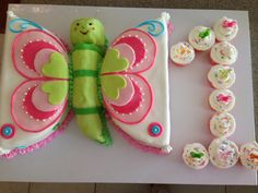 Butterfly cake. First birthday. Butterfly birthday theme.
