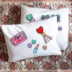 Bei Badgirl pillow cases