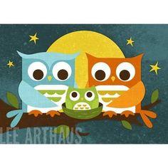 Cute owl painting!