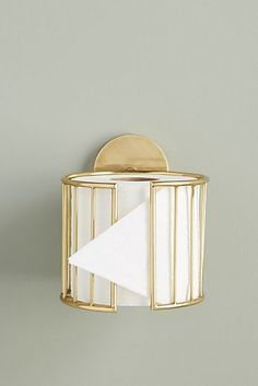 Kelly Toilet Paper Holder by Anthropologie in Brown, Hardware - Bathroom Ideas Home Decor Accessories, Decorative Accessories, Toilet Accessories, Designer Bathroom Accessories, Deco Studio, Toilet Roll Holder, Unique Toilet Paper Holder, Bathroom Toilet Paper Holders, Diy Toilet Paper Holder