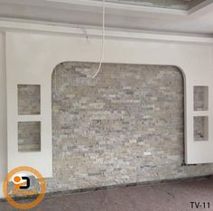 Lcd Wall Design, False Ceiling Design, Roof Ceiling, Ceiling Art, Tv Wall Decor, Living Room Tv, Metal Projects, House Entrance, Ruang Tv