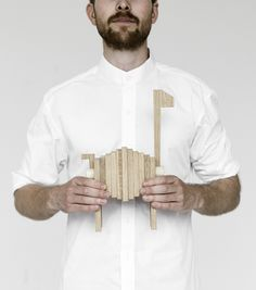 The Polygrif is a customizable creation. The pieces are made of solid oak and beech and it will last a lifetime if you take good care of it. By Moebe.