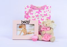Perfect gift basket for a beautiful newborn baby girl    http://www.indulgegiftbox.com/