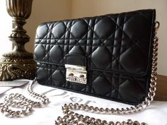 Dior Miss Dior Promenade large pouch in black lambskin - SOLD 3a1a85f635321