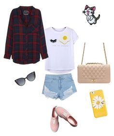 """Cute"" by jimin ❤ liked on Polyvore featuring Chicnova Fashion, Rails, Georgia Perry, Vans, Kate Spade, Fendi and patchesandpins"
