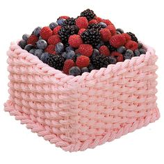 What could look fresher than a berry-topped cake decorated with intertwined basketweave and rope borders? This intricate look will impress every guest, but the technique is easy to master with a little practice. Wilton Cake Decorating, Cake Decorating Tools, Cake Decorating Techniques, Decorating Ideas, Wilton Cakes, Fondant Cakes, Cake Icing, Buttercream Cake, Cupcakes