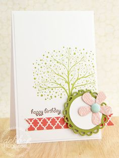lovely CAS card from lime doodle