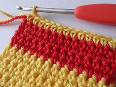 Wisselen van kleur in haakwerk (recht, rond en spiraal)