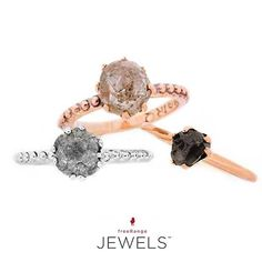 The more the merrier! Three of our favorite 14 facet rough diamond bobble shank rings. Shop www.freerangejewels.co.za #customdesign #handmade#jewellery#capetown #southafrica Latest Jewellery, Rough Diamond, Handmade Jewellery, Jewelry Branding, Shank, Custom Design, Engagement Rings, Photo And Video, Instagram