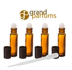 HUGE SALE 6  8ml Amber Glass Roll-on Bottles by GrandParfums