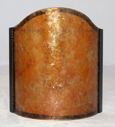 Mica Sconce Half Shade Shield Lampshade Amber Silver Clip on to Wall Lamp Lights | eBay